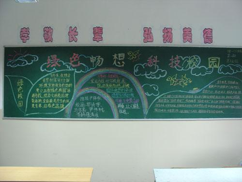初中文明礼仪黑板报版面设计图展示