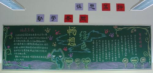 黑板报设计图水彩高中展示